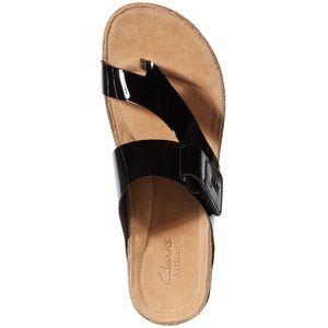 Clarks   Artisan Perri Coast Patent Leather Sandal